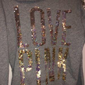 PINK Victoria's Secret bling zip-up hoodie